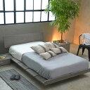 クイーンベッド ローベッド クイーンサイズ 北欧スタイル ZENローベッド フロアベッド ベッドフレーム フレームのみ …