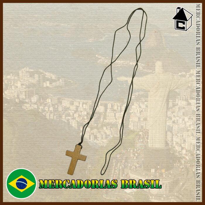 【ブラジル雑貨】ESCAPULARIO CRUZ MADEIRA 木〈サッカー フットサル ボンフィン キーホルダー〉CDC04
