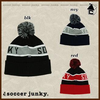 SoccerJunky【サッカージャンキー】ボンボンニット帽〈サッカーフットサルパンディアーニ君〉SJ16580