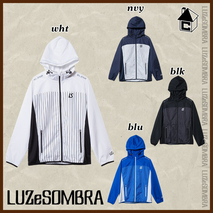 LUZ e SOMBRA/LUZeSOMBRA【ルースイソンブラ】STRIPE FULL ZIP MESH PISTE〈ストライプ フルジップ メッシュ ピステ ナイロンジャケット〉S1631103
