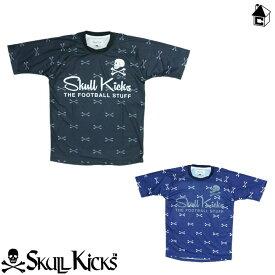 【SALE50%OFF】SKULLKICKS【スカルキックス】CROSS BORN PATTERN GAME SHIRTS〈セール サッカー セール フットサル〉SK14AW011