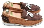 スエードメンズローファーFirenzeAtelier本革ハンドメイド送料無料サイズ交換可能靴皮靴革靴カジュアルメンズシューズカジュアルプレッピーアイビールックスウェードメンズローファー