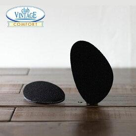 ブラック CLUB VINTAGE / フィットフォームクッション ハーフサイズ 4mm インソール 中敷