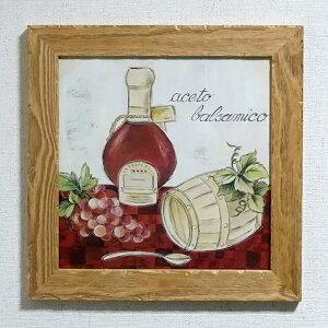 額絵 バルサミコ酢 イタリア製 額入り アートポスター アンティーク調 ナチュラルウッド スクラッチ フレーム lib-1943-52