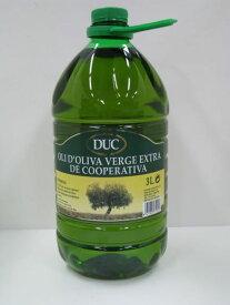 DUC ドゥク スペイン産エクストラバージン・オリーブオイル 3L(ペットボトル入り)