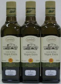 UNIO ウニオ エクストラバージンオリーブオイル(500ml) 3本セット【楽ギフ_包装】【楽ギフ_のし】【楽ギフ_のし宛書】