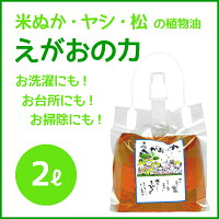 植物油由来成分からできた濃縮無添加洗剤「えがおの力」2L