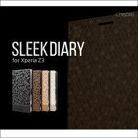 【XPERIAZ3エクスペリアz3カバー】SleekDiaryXperiaZ3(SO-01G/SOL26)【エクスペリアスマホケーススマホケース手帳手帳型so01g】