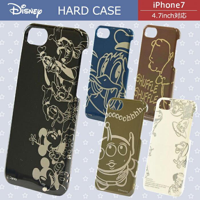 【 Disney / ディズニー 】iPhone7用 裏面・側面のキズを防ぐ! ディズニー キャラクター ハードケース 【 iphone7ケース iphone7 アイフォン7 アイホン7 カバー iphone ミッキー ドナルドダック くまのプーさん トイストーリー リトルグリーンメン 】