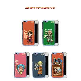 ONE PIECE / ワンピース iPhone6 6s / iPhonePlus 6sPlus / iPhoneSE 5 5s 対応 ONE PIECE SOFT BUMPER CASE ケース カバー iphone 6 plusケース アイフォン6 iPhoneSE アイフォン6カバー ルフィ ゾロ サンジ