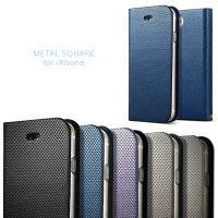 MetalSquareforforiPhone8/iPhone7【iphone7ケースアイフォン7アイホン7手帳手帳型ケースカバースマホiPhone8ケースアイフォン8ケースアイホン8ケースiphone8ケース手帳型】
