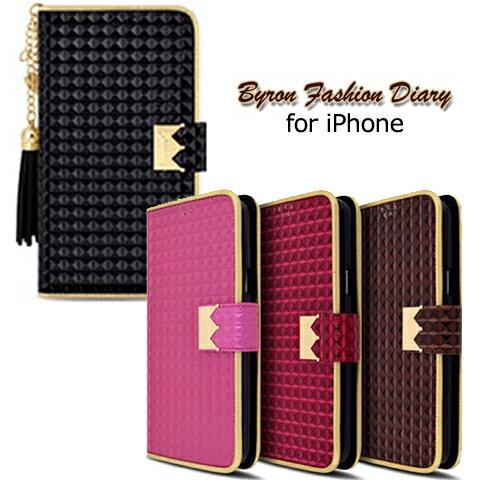 iPhoneXS iphonex iphone8 ケース 手帳型ケース ハートチャーム フリンジ付き iPhone8 iPhone8Plus ケース Byron Fashion Diary iphone6s iPhone6 iphone6ケース アイフォン6 手帳型 iphone6s plus ケース おしゃれ