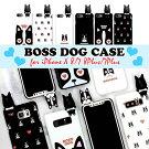 iPhoneXiPhone8ケースBOSSDOGスマホケースiPhone7iPhone8PlusiPhone7Plusケースブサかわフレンチブルドッグ全6種【送料無料】ブラックホワイトblackwhite可愛いモノトーンハートぬいぐるみ犬dog立体