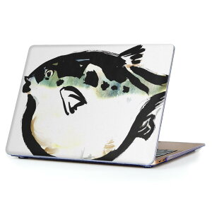 MacBook Air 13inch 2018 専用 デザインハードケース A1932 Apple マックブック エア ノートパソコン カバー ケース ハードカバー クリア 透明 アクセサリー 保護 001599 魚 ふぐ