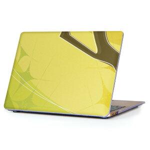 MacBook Air 13inch 2018 専用 デザインハードケース A1932 Apple マックブック エア ノートパソコン カバー ケース ハードカバー クリア 透明 アクセサリー 保護 001789 イラスト シンプル 緑