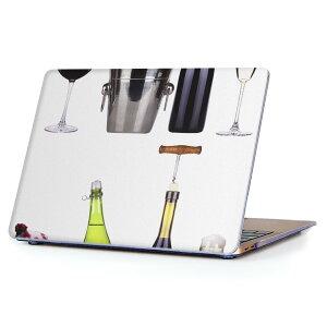 MacBook Air 13inch 2018 専用 デザインハードケース A1932 Apple マックブック エア ノートパソコン カバー ケース ハードカバー クリア 透明 アクセサリー 保護 002932 写真 ワイン
