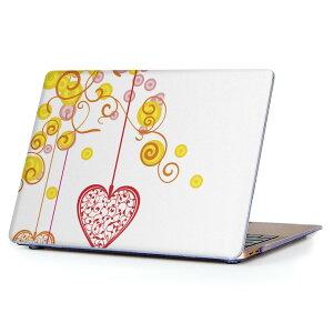 MacBook Air 13inch 2018 専用 デザインハードケース A1932 Apple マックブック エア ノートパソコン カバー ケース ハードカバー クリア 透明 アクセサリー 保護 004955 ハート イラスト シンプル