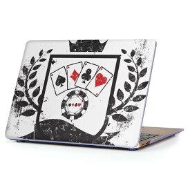 MacBook Air 13inch 2018 専用 デザインハードケース A1932 Apple マックブック エア ノートパソコン カバー ケース ハードカバー クリア 透明 アクセサリー 保護 008885 モノトーン トランプ カジノ