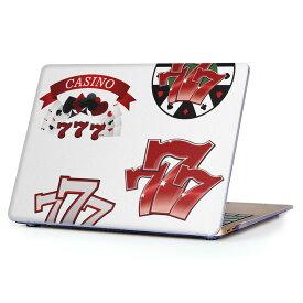 MacBook Air 13inch 2018 専用 デザインハードケース A1932 Apple マックブック エア ノートパソコン カバー ケース ハードカバー クリア 透明 アクセサリー 保護 008919 赤 レッド カジノ スロット