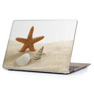 MacBook Air 13inch 2018 専用 デザインハードケース A1932 Apple マックブック エア ノートパソコン カバー ケース ハードカバー クリア 透明 アクセサリー 保護 009536 貝殻 海 写真