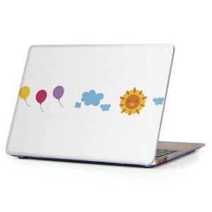 MacBook Air 13inch 2018 専用 デザインハードケース A1932 Apple マックブック エア ノートパソコン カバー ケース ハードカバー クリア 透明 アクセサリー 保護 009553 風船 空 キャラクター