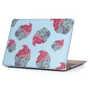 MacBook Air 13inch 2018 専用 デザインハードケース A1932 Apple マックブック エア ノートパソコン カバー ケース ハードカバー クリア 透明 アクセサリー 保護 010303 お菓子 ピンク 青