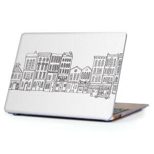 MacBook Air 13inch 2018 専用 デザインハードケース A1932 Apple マックブック エア ノートパソコン カバー ケース ハードカバー クリア 透明 アクセサリー 保護 010841 風景 イラスト シンプル