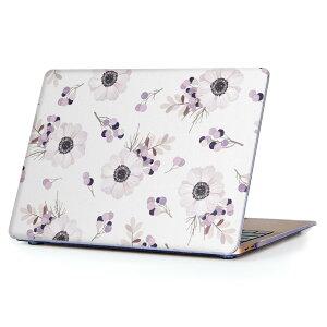 MacBook Air 13inch 2018 専用 デザインハードケース A1932 Apple マックブック エア ノートパソコン カバー ケース ハードカバー クリア 透明 アクセサリー 保護 012585 花 花柄 かわいい