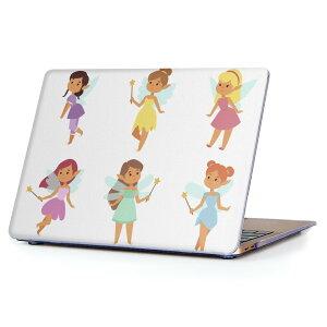 MacBook Air 13inch 2018 専用 デザインハードケース A1932 Apple マックブック エア ノートパソコン カバー ケース ハードカバー クリア 透明 アクセサリー 保護 013249 妖精 かわいい