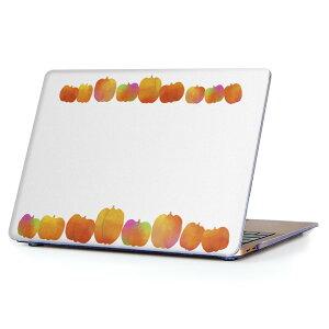 MacBook Air 13inch 2018 専用 デザインハードケース A1932 Apple マックブック エア ノートパソコン カバー ケース ハードカバー クリア 透明 アクセサリー 保護 013347 かぼちゃ ハロウィン オレンジ