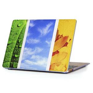 MacBook Air 13inch 2018 専用 デザインハードケース A1932 Apple マックブック エア ノートパソコン カバー ケース ハードカバー クリア 透明 アクセサリー 保護 014084 夏 ひまわり 空