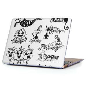 MacBook Air 13inch 2018 専用 デザインハードケース A1932 Apple マックブック エア ノートパソコン カバー ケース ハードカバー クリア 透明 アクセサリー 保護 014116 ハロウィン かぼちゃ おばけ