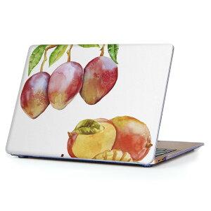 MacBook Air 13inch 2018 専用 デザインハードケース A1932 Apple マックブック エア ノートパソコン カバー ケース ハードカバー クリア 透明 アクセサリー 保護 014791 マンゴー 果物 夏