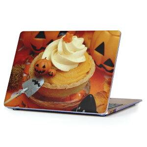 MacBook Air 13inch 2018 専用 デザインハードケース A1932 Apple マックブック エア ノートパソコン カバー ケース ハードカバー クリア 透明 アクセサリー 保護 014823 かぼちゃ ハロウィン デザート
