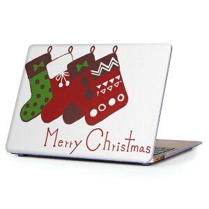 MacBook Air 13inch 2018 専用 デザインハードケース A1932 Apple マックブック エア ノートパソコン カバー ケース ハードカバー クリア 透明 アクセサリー 保護 015789 クリスマス 靴下 かわいい