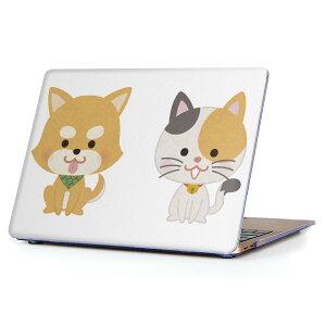 MacBook Air 13inch 2018 専用 デザインハードケース A1932 Apple マックブック エア ノートパソコン カバー ケース ハードカバー クリア 透明 アクセサリー 保護 016075 猫 かわいい
