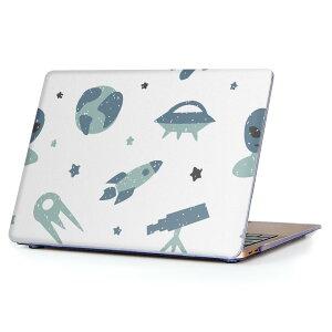 MacBook Air 13inch 2018 専用 デザインハードケース A1932 Apple マックブック エア ノートパソコン カバー ケース ハードカバー クリア 透明 アクセサリー 保護 016080 宇宙 模様 かわいい