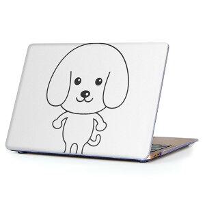 MacBook Air 13inch 2018 専用 デザインハードケース A1932 Apple マックブック エア ノートパソコン カバー ケース ハードカバー クリア 透明 アクセサリー 保護 016085 犬 かわいい