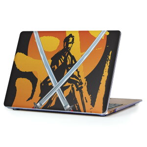 MacBook Air 13inch 2010  2017 専用 デザインハードケース A1466 A1369 Apple マックブック エア ノートパソコン カバー ケース ハードカバー クリア 透明 004479 侍 刀 イラスト