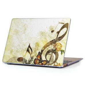 MacBook Air 13inch 2010  2017 専用 デザインハードケース A1466 A1369 Apple マックブック エア ノートパソコン カバー ケース ハードカバー クリア 透明 005254 音楽 蝶 イラスト