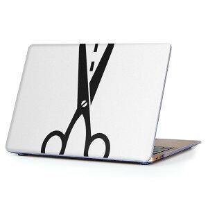 MacBook Air 13inch 2010  2017 専用 デザインハードケース A1466 A1369 Apple マックブック エア ノートパソコン カバー ケース ハードカバー クリア 透明 006257 はさみ 白 黒