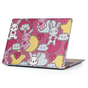MacBook Air 13inch 2010  2017 専用 デザインハードケース A1466 A1369 Apple マックブック エア ノートパソコン カバー ケース ハードカバー クリア 透明 006722 うさぎ 動物 イラスト