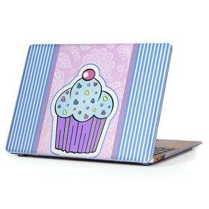 MacBook Air 13inch 2010 〜 2017 専用 デザインハードケース A1466 A1369 Apple マックブック エア ノートパソコン カバー ケース ハードカバー クリア 透明 007843 花 フラワー お菓子 青 ブルー
