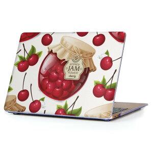 MacBook Air 13inch 2010  2017 専用 デザインハードケース A1466 A1369 Apple マックブック エア ノートパソコン カバー ケース ハードカバー クリア 透明 008320 イラスト さくらんぼ チェリー 赤 レ
