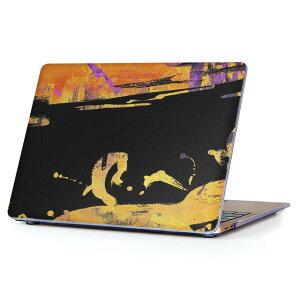 MacBook Air 13inch 2010 〜 2017 専用 デザインハードケース A1466 A1369 Apple マックブック エア ノートパソコン カバー ケース ハードカバー クリア 透明 008769 模様 ペンキ 黒 ブラック