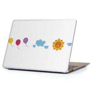 MacBook Air 13inch 2010  2017 専用 デザインハードケース A1466 A1369 Apple マックブック エア ノートパソコン カバー ケース ハードカバー クリア 透明 009553 風船 空 キャラクター