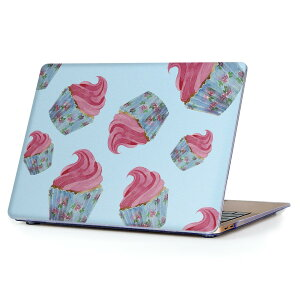 MacBook Air 13inch 2010 〜 2017 専用 デザインハードケース A1466 A1369 Apple マックブック エア ノートパソコン カバー ケース ハードカバー クリア 透明 010303 お菓子 ピンク 青