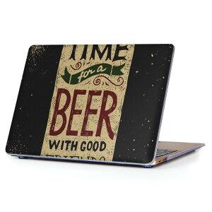 MacBook Air 13inch 2010 〜 2017 専用 デザインハードケース A1466 A1369 Apple マックブック エア ノートパソコン カバー ケース ハードカバー クリア 透明 011712 ビール 飲み物 英語