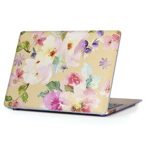 MacBook Air 13inch 2010  2017 専用 デザインハードケース A1466 A1369 Apple マックブック エア ノートパソコン カバー ケース ハードカバー クリア 透明 012055 花 かわいい パステル