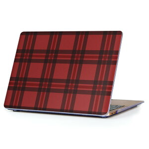 MacBook Air 13inch 2010  2017 専用 デザインハードケース A1466 A1369 Apple マックブック エア ノートパソコン カバー ケース ハードカバー クリア 透明 012415 赤 チェック かわいい